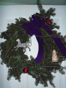 traditional Kirstein Christmas Zebra