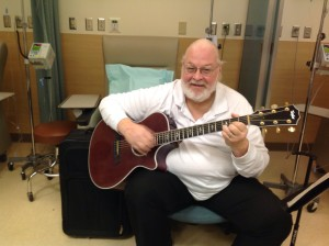 John P Shannon Jr, soothing the weary chemo patients