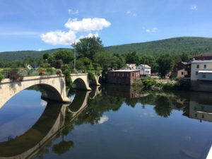 The Bridge of Flowers, in Shelburne Falls, MA.